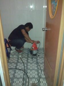 proses pekerjaan kamar mandi mampet