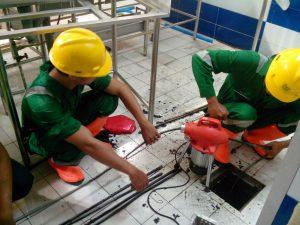Safety pekerja pipa mampet